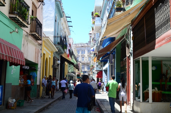 Typical street Old Havana