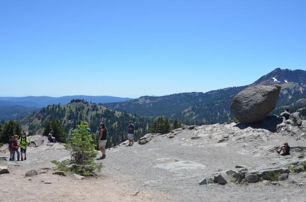 Bumpass Hell Overlook and Trailhead