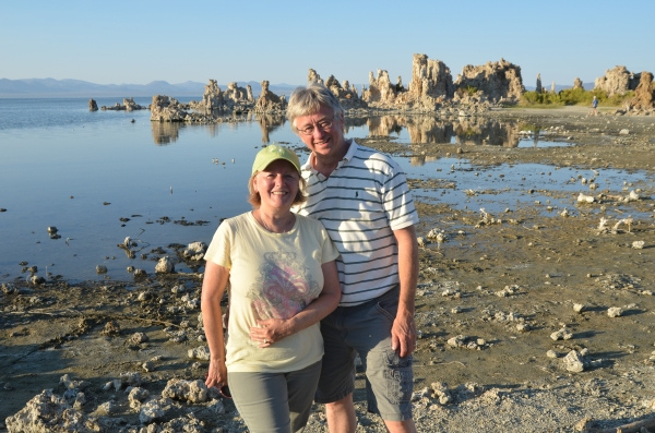 Tim and Joanne at Mono Lake