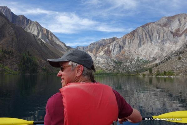 Kayaking on Convict Lake