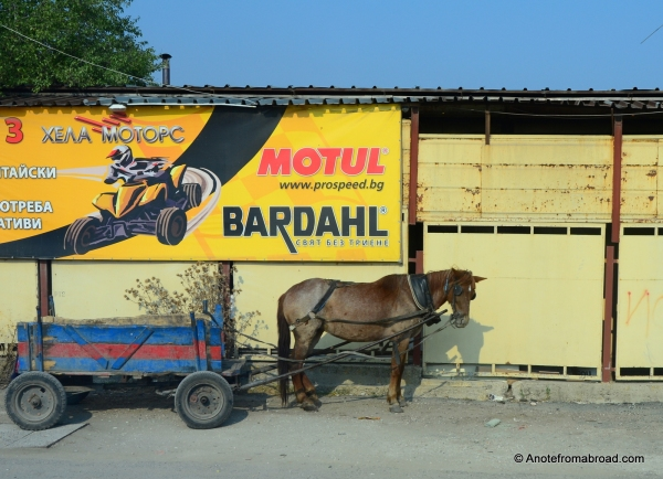 Race car or horse cart - Many contrasts in Serbia