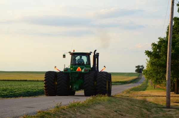 A really big tractor