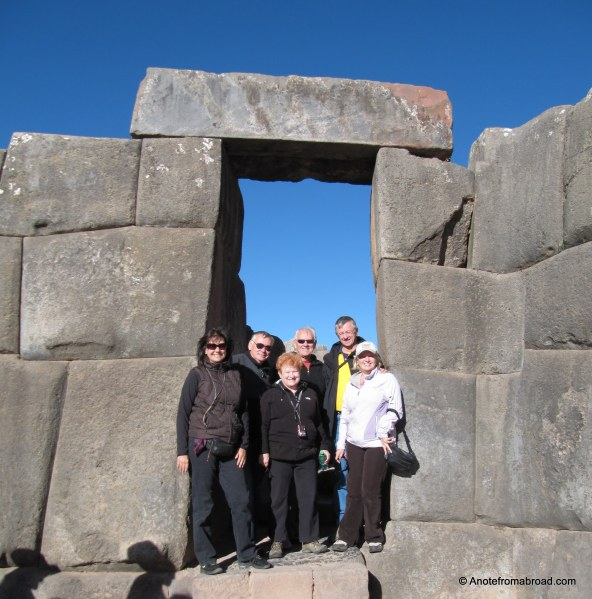 Our group of six at Saqsaywaman