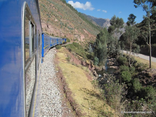 On the Perurail train