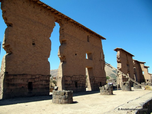 Inca temple of Raqchi and the Temple of Wiracocha
