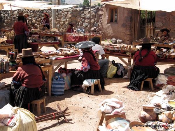 Marketplace at Raqchi
