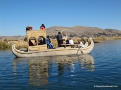 Boats made out of totora reeds