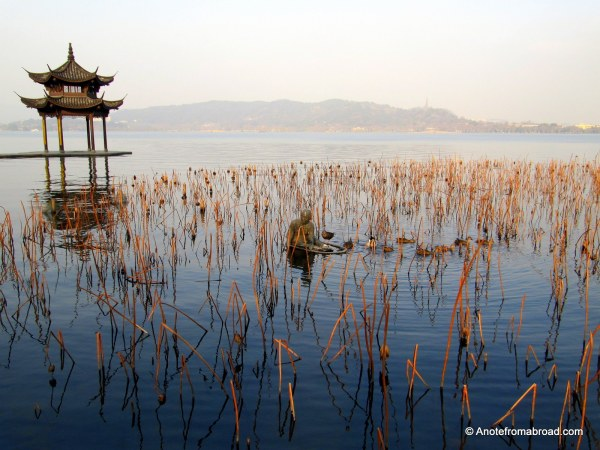 Huxin Pavilion on West Lake, Hangzhou China