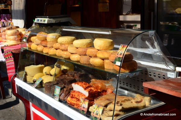 Cheese wheels or Romanian style delicatessen