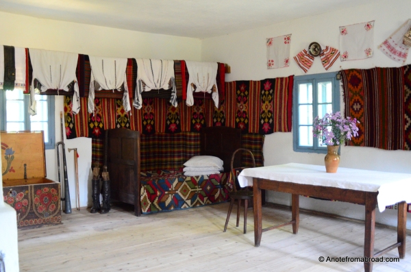 Interior of traditional Romanian house