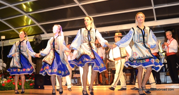 Lively dancers with colorful costumes
