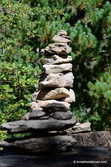 Stack of wishing rocks