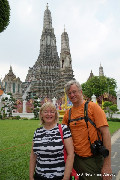 Tim and Joanne at Temple of Dawn
