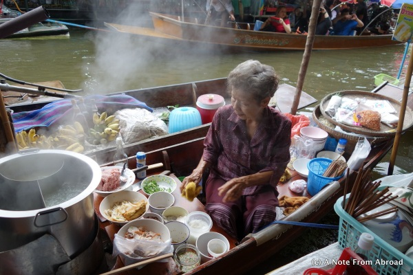 Cooking on small boat