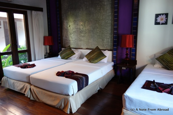 Our hotel room in Sukhothai