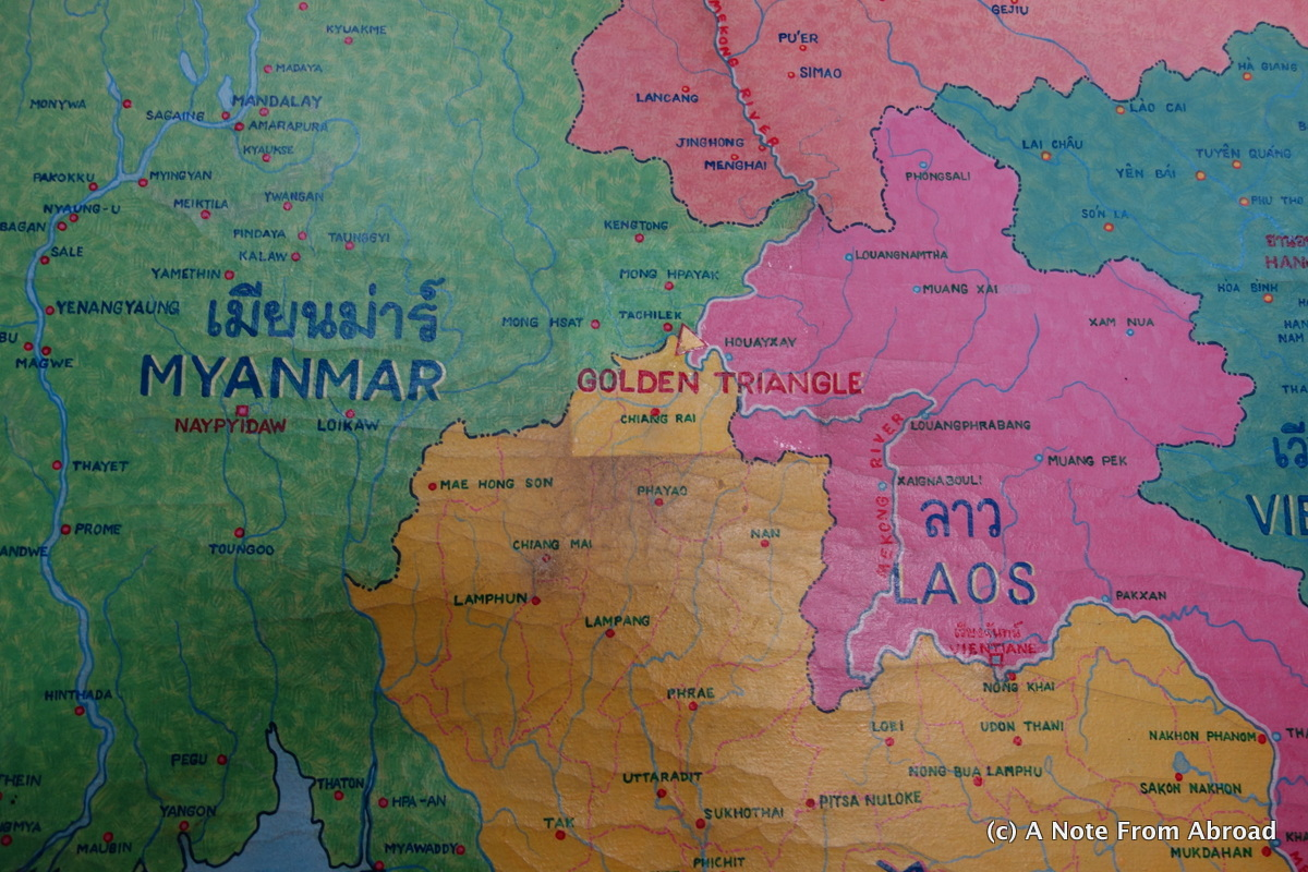 Three countries in one day thailand myanmar and laos a note map of golden triangle gumiabroncs Images