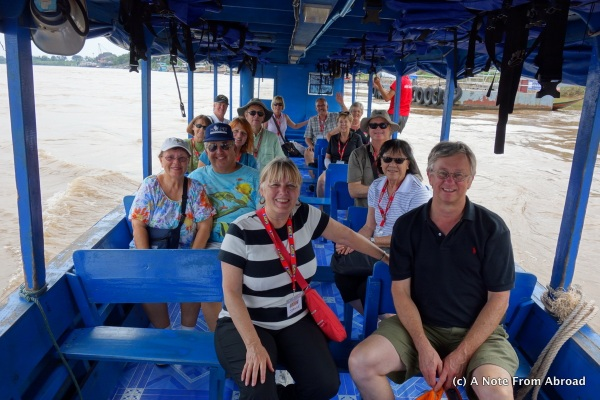 Our group of 14 on the Mae Khong River