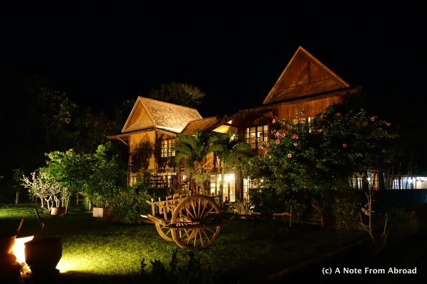 Teak home where our private group dinner was held