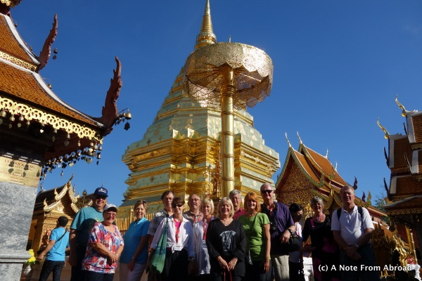Our group of 14 at Wat Phra That Doi Suthep