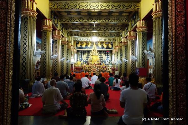 Buddhist prayer session