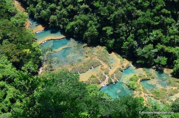 "View of Semuc Champey from ""up"" the hill"