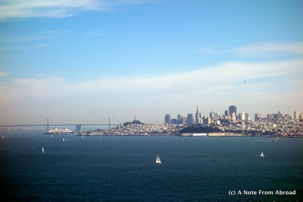 San Francisco skyline from Saucalito