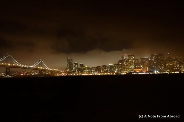 San Francisco skyline from Treasure Island