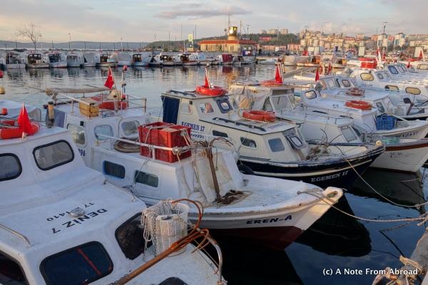 Fleet of small fishing boats
