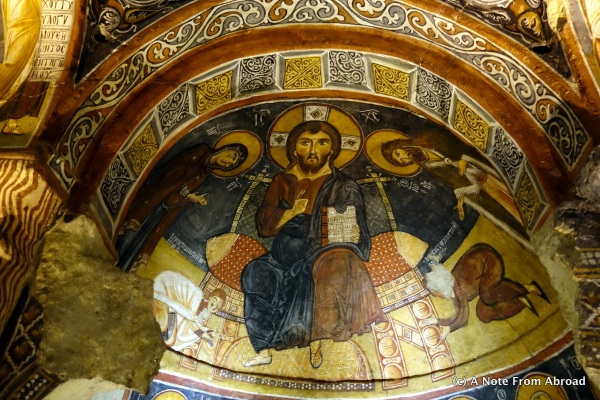 Beautifully colored well preserved frescos