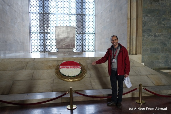 Inside Hall of Honor.  It happened to be a day to honor those in the travel industry.  This is our guide, Erdal.