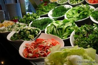 Fresh greens to make a salad