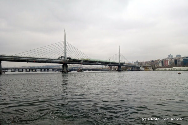 Golden Horn Metro Bridge - brand new, just opened while we were in Turkey