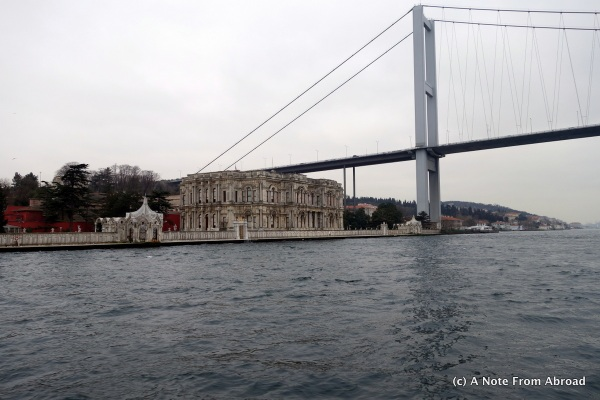 Summer Palace at the base of the Bosphorus Bridge - Asian side