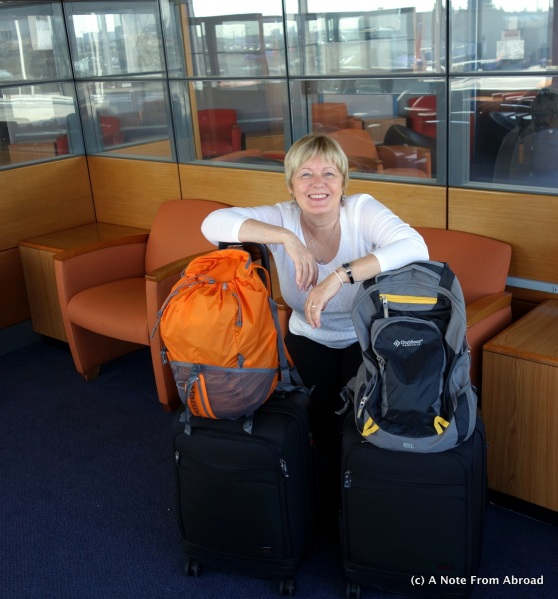 Joanne at LAX - ready to go!