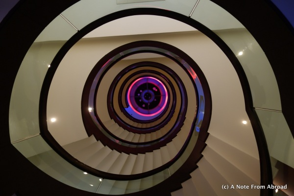 Staircase at Godwin Deluxe Hotel