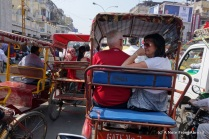 Dick and Karen in a bike rickshaw
