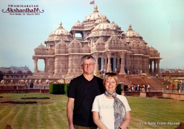 Tim and Joanne at Akshardham