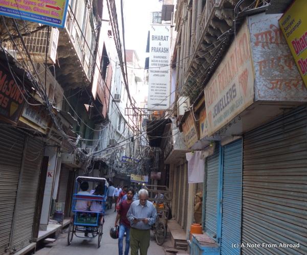 Old Delhi narrowest street