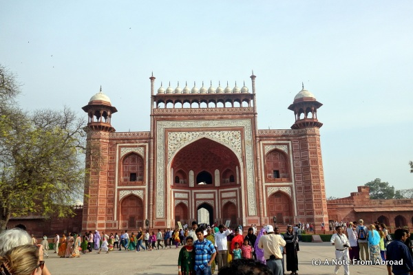 The Great Gate - gateway to the Taj Mahal