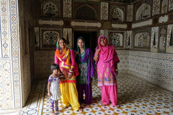 The Indian women are beautiful in their colorful sarees