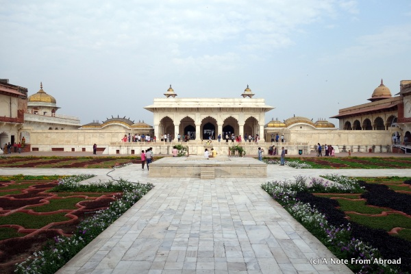 Courtyard inside Agra Fort