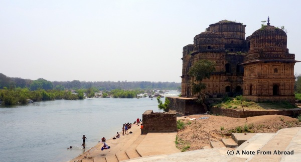 Bathing and swimming in the River Betwa