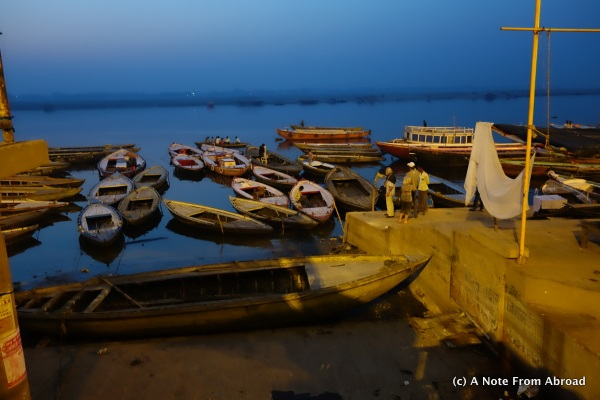 Ganges River just before dawn