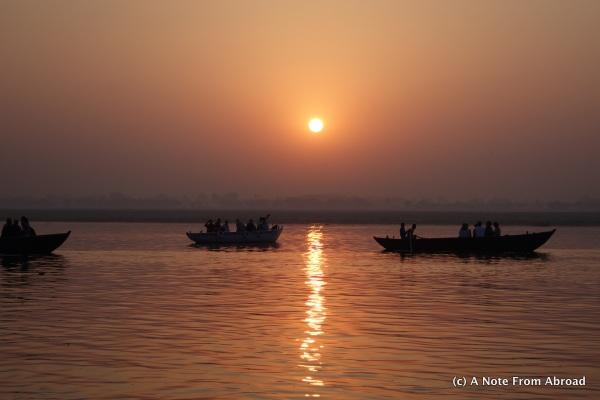 Beautiful sunrise on the Ganges