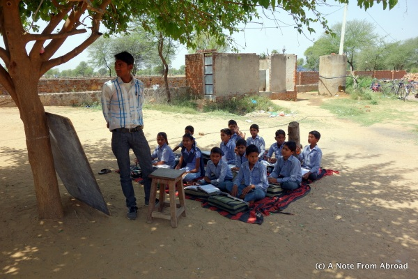 Classroom under a tree