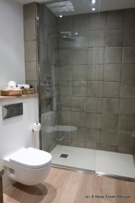 Bathroom with roomy shower