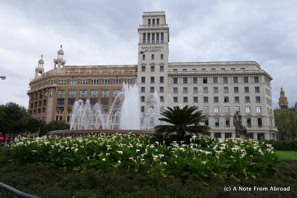 Fountain at Plaza de Catalunya