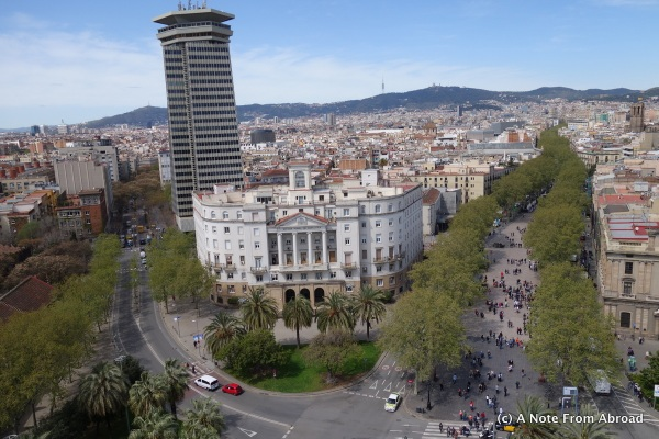 La Rambla on the right