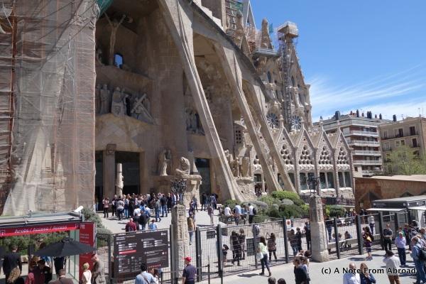 Front entrance to Sagrada Familia