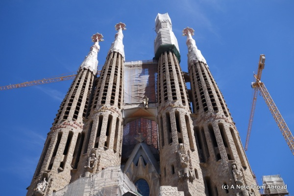 Sagrada Familia Basilica, still under construction